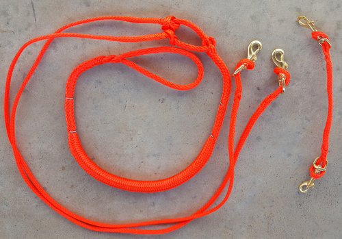 Jöringleine mit Ruckdämpfer für 2 Hunde 2,50m PE-Seil  für Zughundesport Dogscooting, Bikejöring, Canicross und Dogtrekking – Bild 1