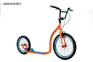 "Crussis Active 4.2 Scooter Tretroller neon orange 20"" 16"" Dogscooter Erwachsene  – Bild 1"