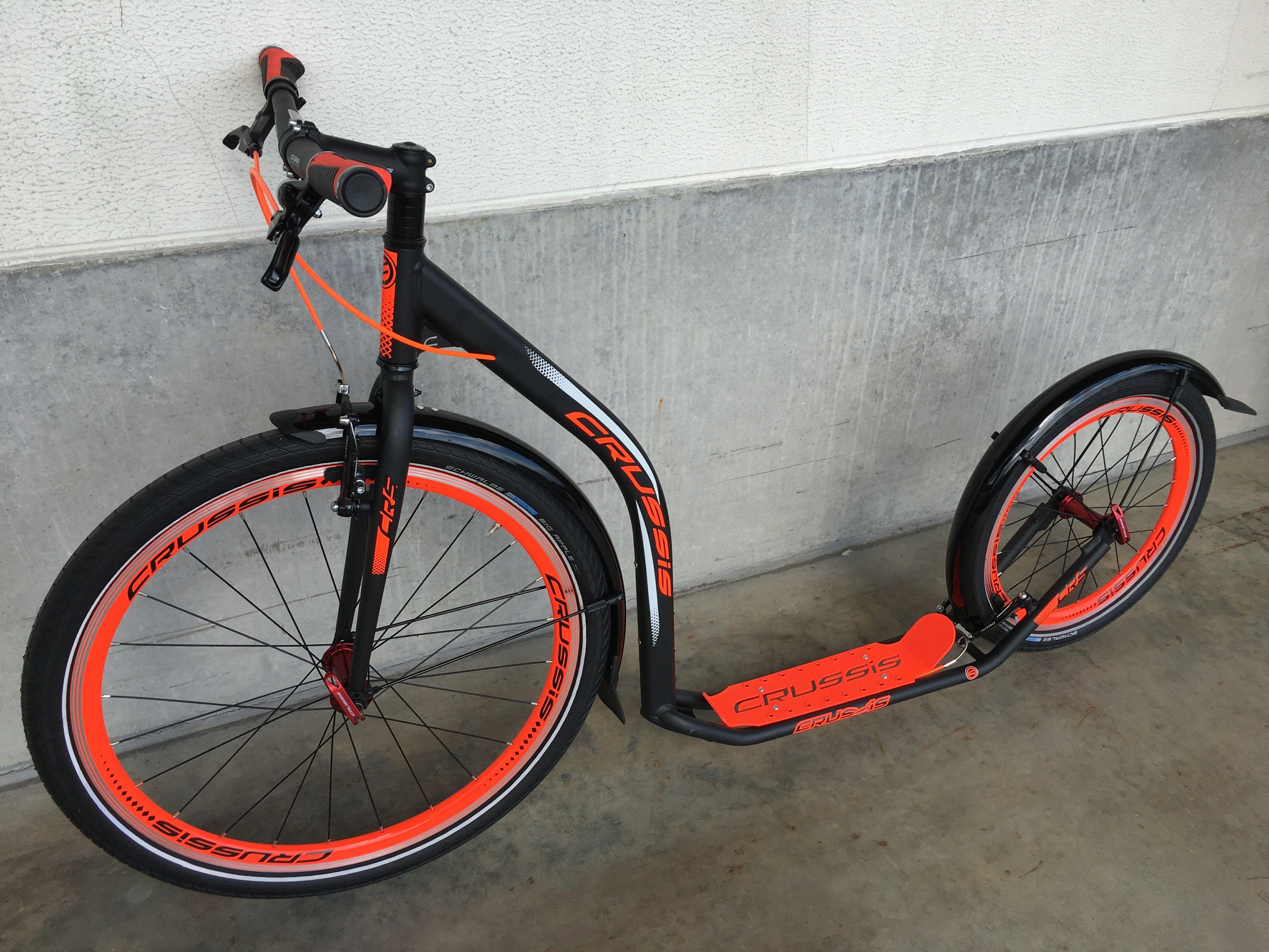 crussis urban 4 3 black orange scooter tretroller. Black Bedroom Furniture Sets. Home Design Ideas