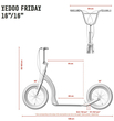 Shopping Edition Yedoo Tretroller Friday Alu cream 16 16