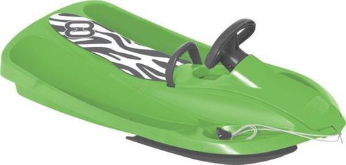 Hamax Sno Zebra der stylische Lenkschlitten Lenkbob green