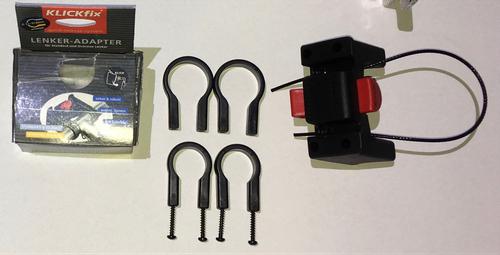 Klickfix Lenker Adapter 22-26mm + 31,8mm für Körbe Taschen Bikeantenne Kartenhalter kurz