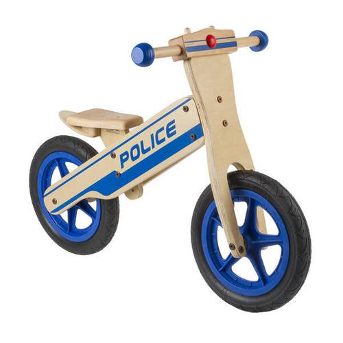Holz Lernlaufrad Police Balance Bike – Bild 1
