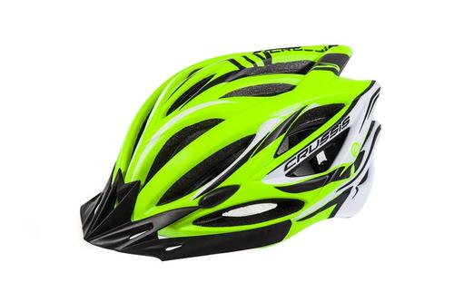 Tretroller Fahrradhelm Crussis Neon Gelb-Weiß  – Bild 1