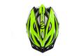 Tretroller Fahrradhelm Crussis Neon Gelb-Weiß