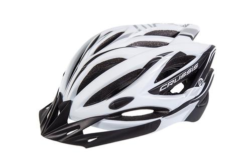 Tretroller Fahrradhelm Crussis Weiß-Schwarz – Bild 1