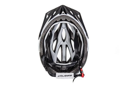 Tretroller Fahrradhelm Crussis Weiß-Schwarz – Bild 4
