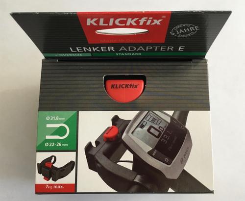 Klickfix Lenker Adapter E extrabreit  22-26mm, 31,8 mm Abstand innen 78 mm, Breite 110mm – Bild 1
