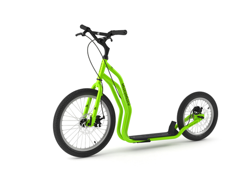 Yedoo New Mezeq Disc green Tretroller Dog Scooter mit Scheibenbremsen  – Bild 1