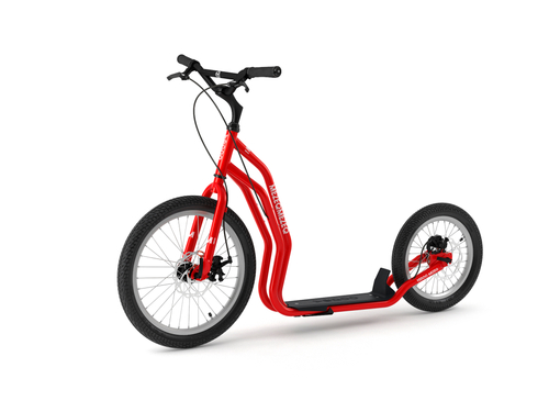Yedoo New Mezeq Disc red Tretroller Dog Scooter mit Scheibenbremsen  – Bild 1