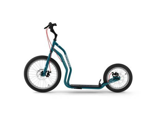 Yedoo New Mezeq Disc petrol-blue Tretroller Dog Scooter mit Scheibenbremsen  – Bild 2