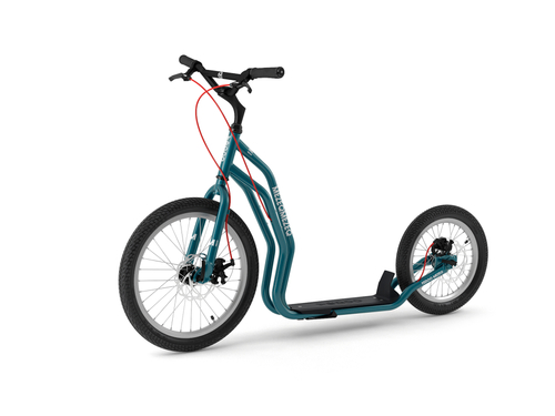 Yedoo New Mezeq Disc petrol-blue Tretroller Dog Scooter mit Scheibenbremsen  – Bild 1