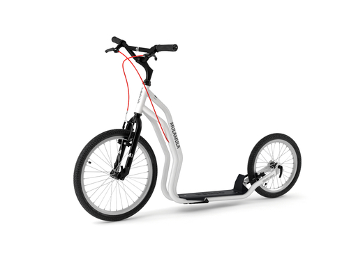 Yedoo Mula V-Brake white Tretroller Dog Scooter  – Bild 1