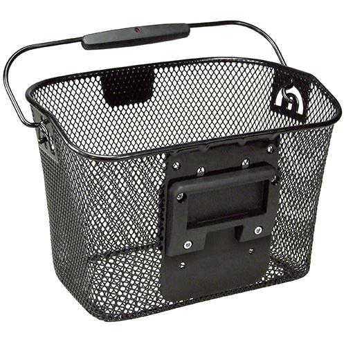 Rixen & Kaul Klickfix Mini Fahrrad-Korb schwarz vorn Drahtkorb 10Liter – Bild 2