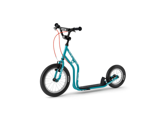 "Yedoo New Wzoom 16"" 12"" Tretroller  teal-blue Kickscooter for cool Girls and Boys – Bild 1"