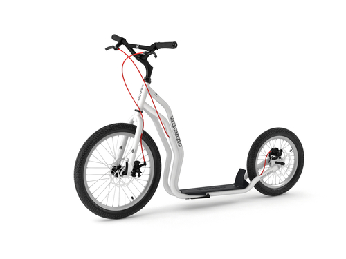 Yedoo New Mezeq Disc white Tretroller Dog Scooter mit Scheibenbremsen  – Bild 1