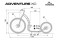 Morxes Adventure XC gelb Dogscooter 26  20  Federgabel Disc Hydraulic