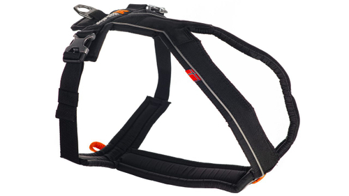 Non-stop Line Harness Hundegeschirr Klippverschluß black