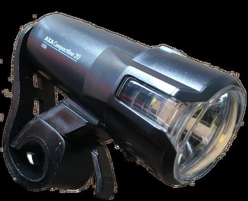 AXA Compactline 20 USB LED Frontleuchte mit STVZO – Bild 2