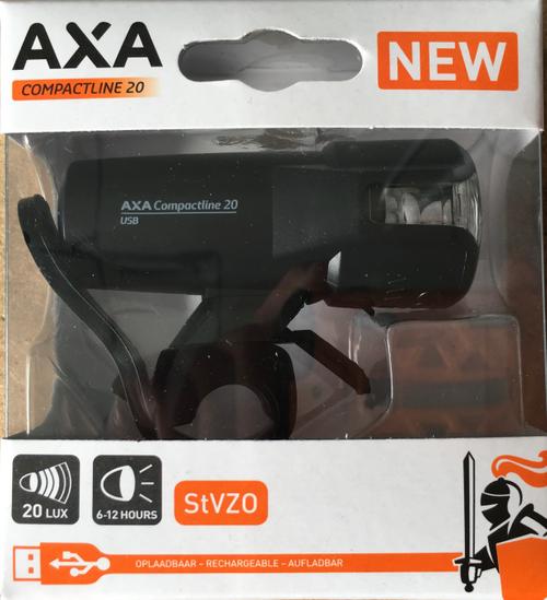 AXA Compactline 20 USB LED Frontleuchte mit STVZO – Bild 1