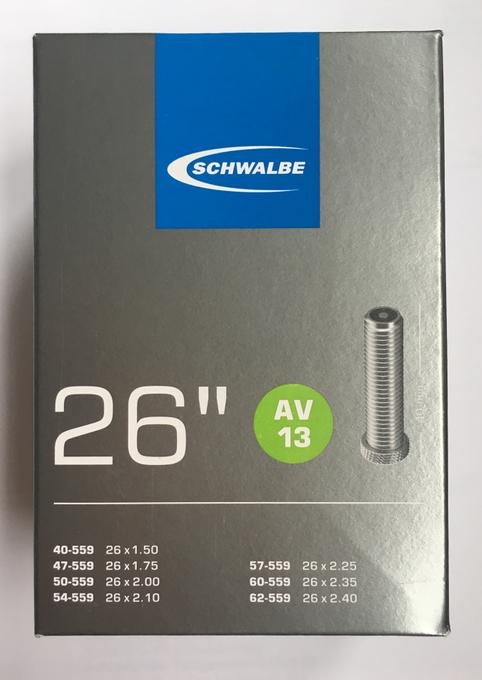 """Schwalbe Farrad Schlauch 26"""" 40/62-559 AV13"""