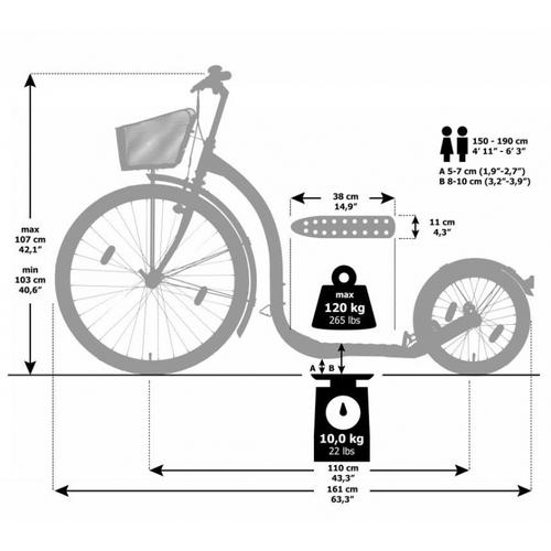Kickbike City G4 pink Stadtroller Tretroller Erwachsene – Bild 2