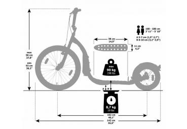"Kickbike Freeride G4 schwarz 20"" 12"" Tretroller Kids u. Erwachsene – Bild 3"