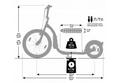 Kickbike Freeride G4 schwarz 20  12  Tretroller Kids u. Erwachsene