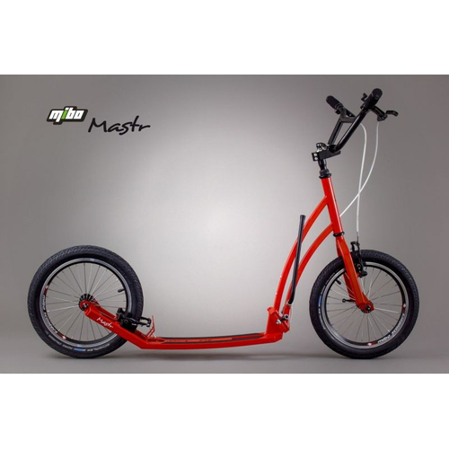 Mibo Klapp Falt Roller Mastr Red 16/16 Zoll  inkl. Seitenständer – Bild 1