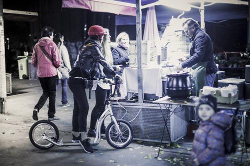"Yedoo Tretroller Friday Alu brightgreen 16""16""  Cityroller  – Bild 4"