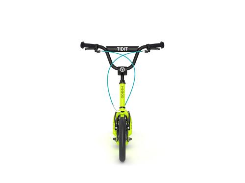 """Yedoo New Tidit lime Tretroller 12"""" Luftreifen Felgenbremse für Coole Kids  – Bild 3"""