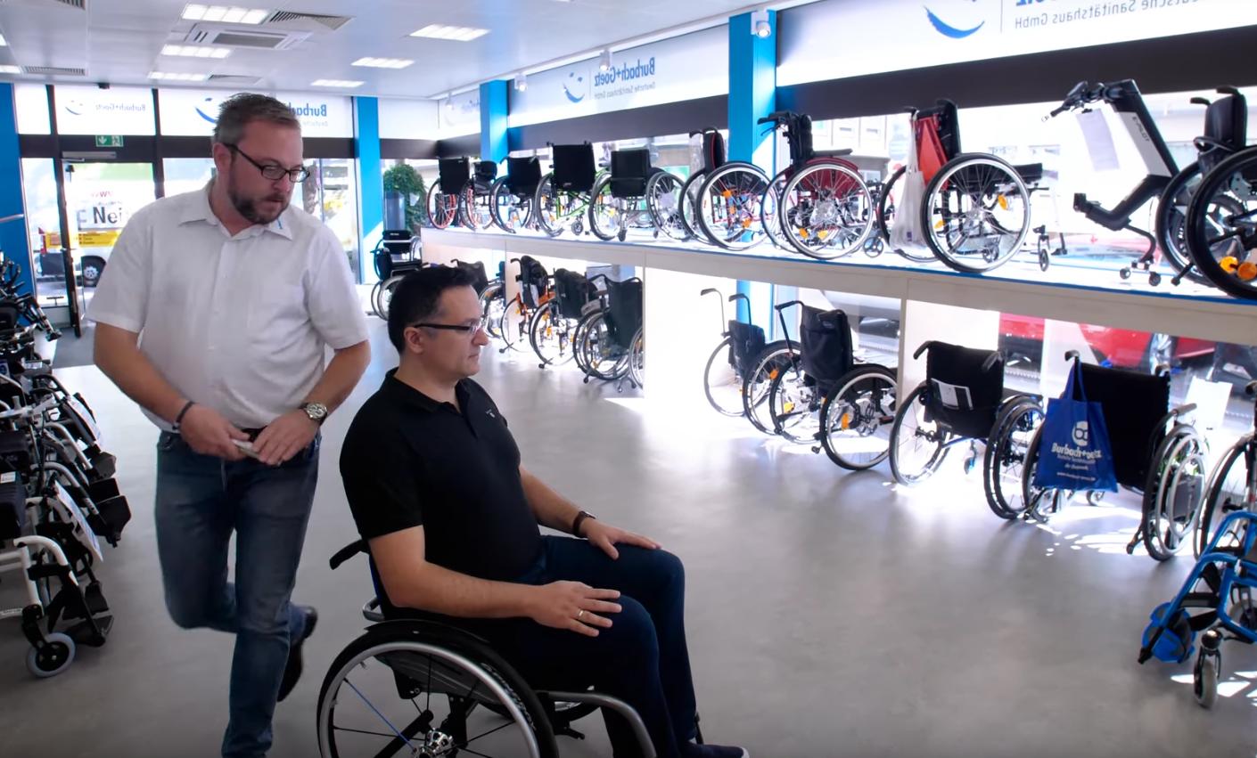 Aktivrollstuhl im Rollstuhlzentrum Koblenz