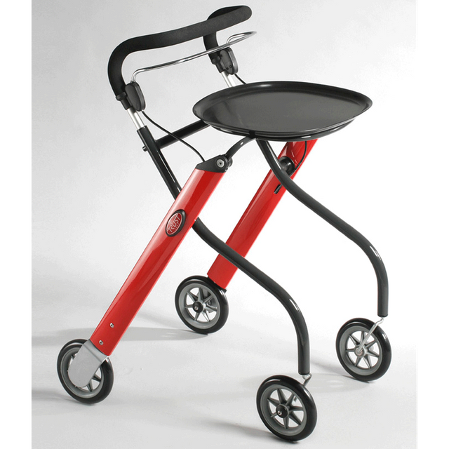 Let´s Go Rollator Edition rot/grau