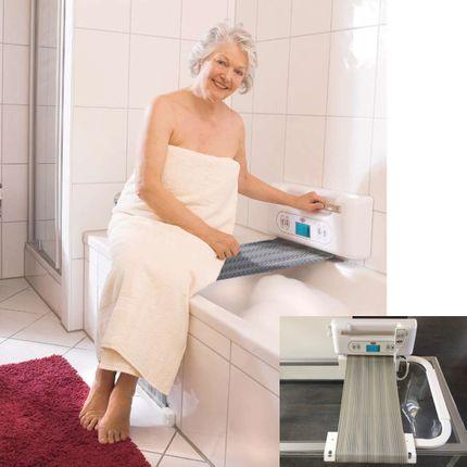 Juwel Tuchlift Badelifter ohne Bohren, keine Wandmontage! inklusive Halterung für Wannenrand