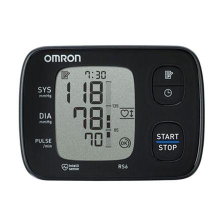 Omron RS 6 Handgelenk-Blutdruckmessgerät, schlank, lautlos und präzise, 90 Speicherplätze