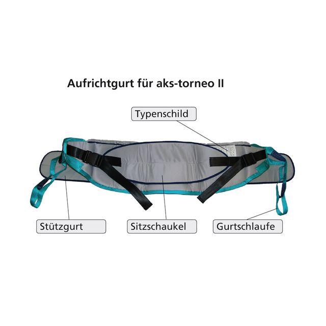 AKS Aufrichtgurt mit Brustschlaufe und Sitzschaukel, für AKS-Torneo II