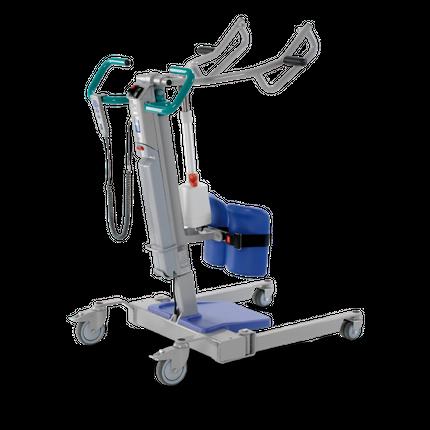 Arjo Sara 3000 (2019) Aufricht- und Aufstehhilfe, Aktiv-Patientenlifter, elektrische Beinspreizung, inkl. Gurt gratis, inkl. zwei Akkus, bis 200kg belastbar