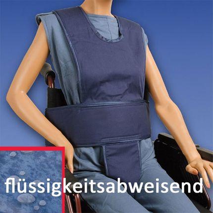 Biocare Komplett Klett, flüssigkeitsabweisend blau, Sicherungssystem für Hüfte, Oberkörper & Becken, Patientensicherungsystem im Rollstuhl