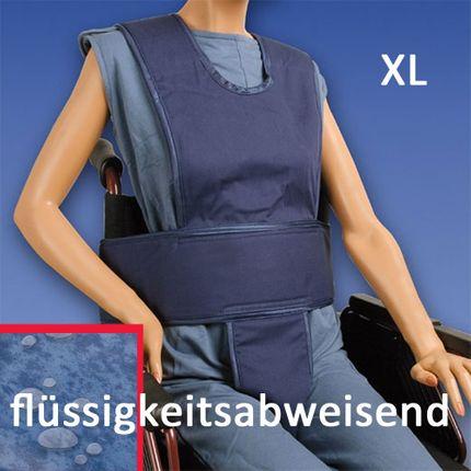 Biocare Komplett Klett, flüssigkeitsabweisend XL blau, Sicherungssystem für Hüfte, Oberkörper & Becken, Patientensicherungsystem im Rollstuhl