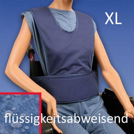 Biocare Standard Klett, flüssigkeitsabweisend, XL blau, Sicherungssystem für Hüfte und Oberkörper, Patienten-Gurt Rollstuhl