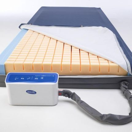 Invacare Softform Active 2 Rx, Anti-Dekubitus-Matratze, Hybrid-System, Wechseldruck & Weichlagerung in einem System, bis Grad 4, bis 247 kg 001