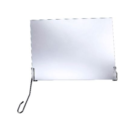 FRELU Kippspiegelgarnitur mit Verstellhebel links, Neigungswinkel 35°, Standardversion, für Spiegel bis H=50cm und B=60cm geeignet
