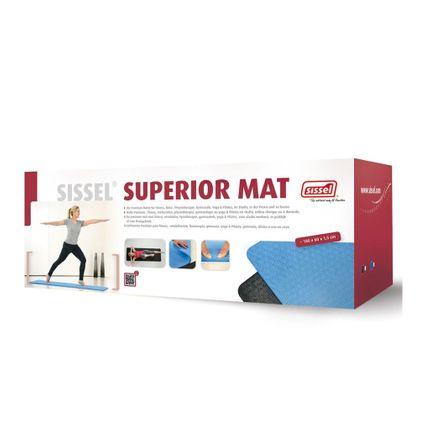 Sissel Superior Mat blau - Die Premium Matte für Fitness, Reha , Physiotherapie, Gymnastik, Yoga & Pilates, im Studio, in der Praxis und zu hause