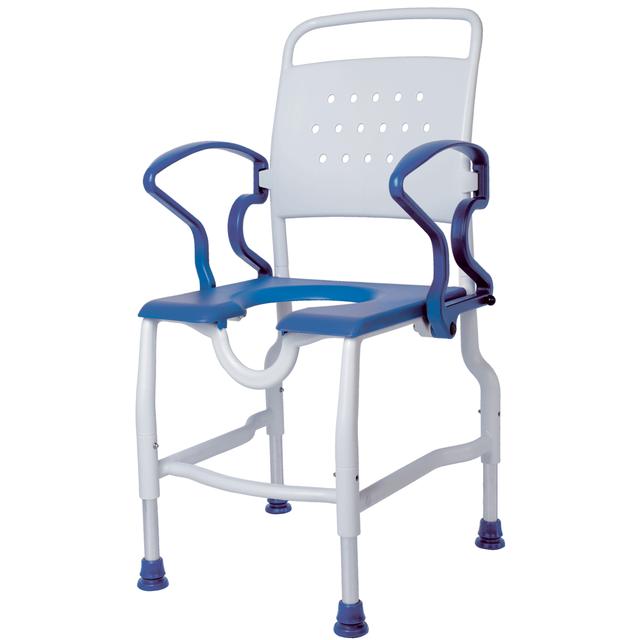 Rebotec Zwickau Duschstuhl, mit ergonomischer Rückenlehne, bis 130 kg