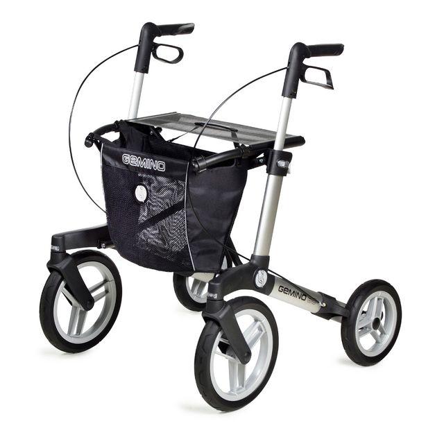 Sunrise Medical Gemino 60, Leichtgewichtsrollator, Outdoor-Gehwagen, für Körpergroße 150-200 cm