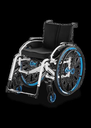 Meyra Aktivrollstuhl Smart S / 2.370 ihr individuell anpassbarer Adaptiv-Rollstuhl mit abschwenkbaren Beinstützen