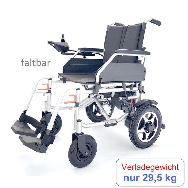 Campus Elektro-Rollstuhl, faltbar, Reise-Elektrostuhl, Rücken klappbar, 6 km/h, bis 100 kg