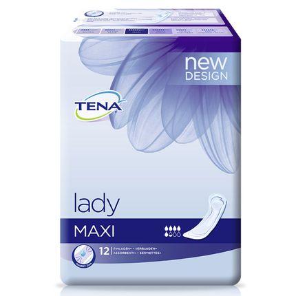 Tena Lady Maxi (Karton 144 Stück) bei mittlere bis stärkere Blasenschwäche