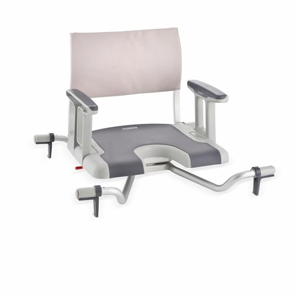 Aquatec® Sorrento Badewannensitz mit Drehfunktion, inkl Hygieneausschnitt mit Soft-Touch-Oberfläche