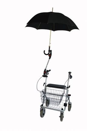 4900a546acf774 MPB Rollatorschirm-Halter ST 19-25 bei Regenwetter und als Schattenspender  ideal